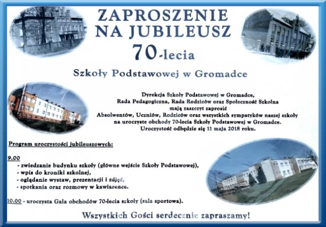 Zaproszenie Na Obchody 70 Tecia Sp W Gromadce Zswgromadce